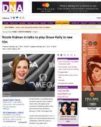 Nicole Kidman in talks to play Grace Kelly: DNA